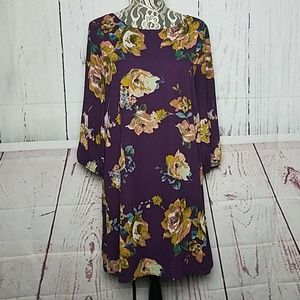 Everly foral purple dress